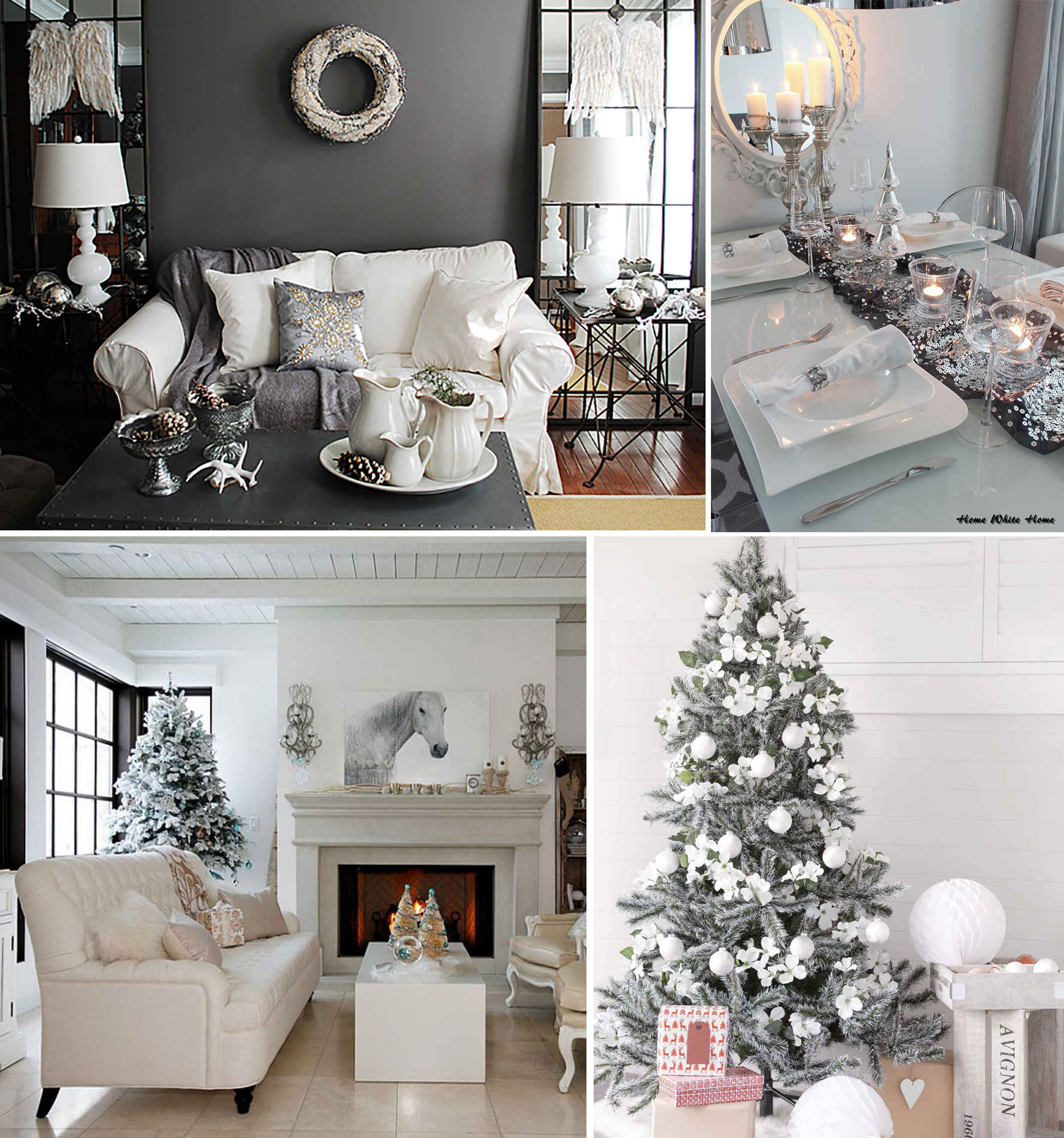 Grey and Silver Christmas Decor