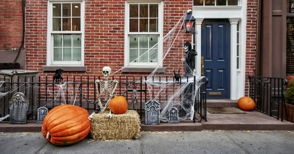 House with Halloween Decoration